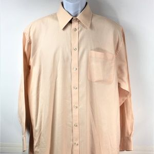 Coral NAUTICA Button Down Casual Shirt Size 16 1/2